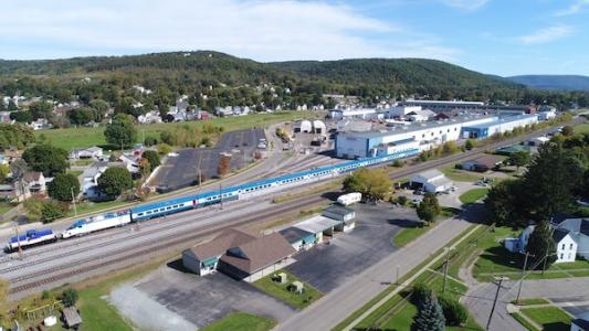 New Acela tracks at Hornell, New York, Amtrak