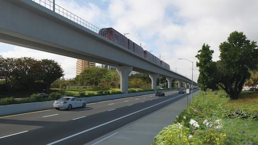 Rendering of the Genesee Viaduct; Mid-Coast Corridor Transit Project