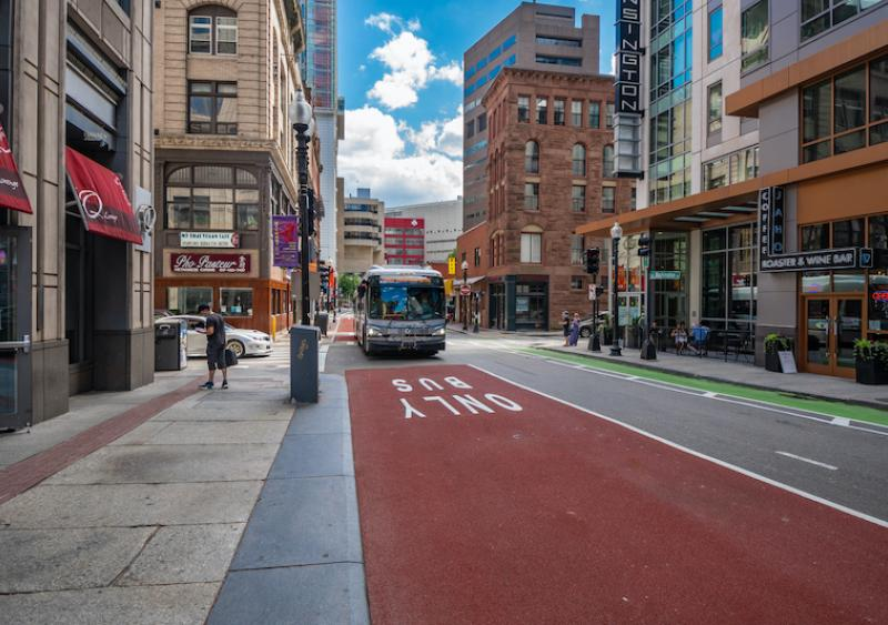 New bus and bike lanes established in Downtown Boston
