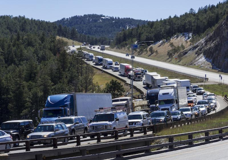 Trucks on I-70 in Colorado; Trucking safety program in Colorado