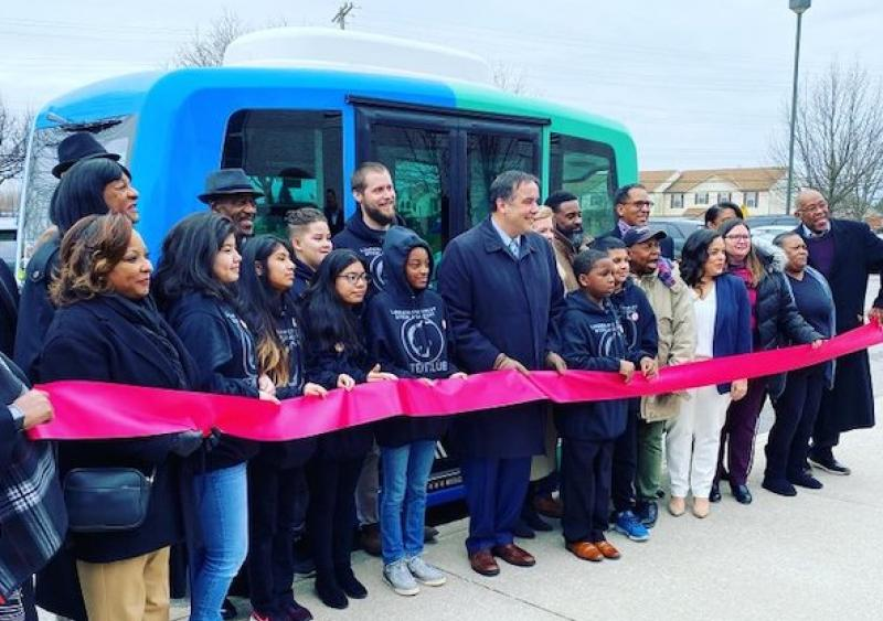 Smart Columbus Linden Leap shuttle opening