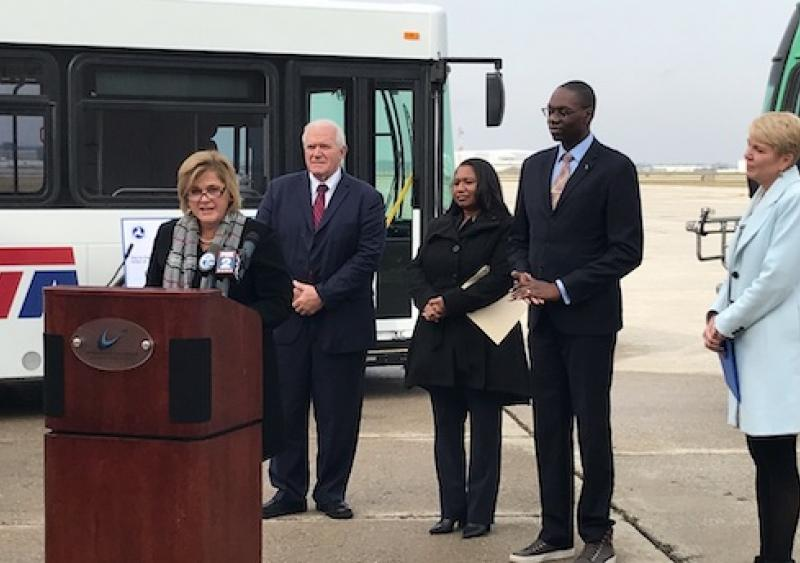 FTA Administrator K. Jane Williams announces transit grant funding