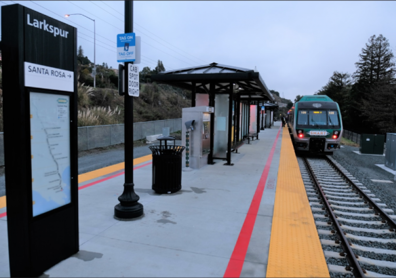 A project extending commuter rail services in California is one of many projects that has received FTA Capital Investment Grants program funding.