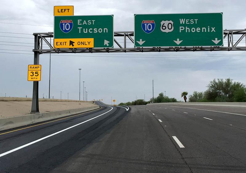 U.S. 60 exit to I-10 in Tempe, Ariz.
