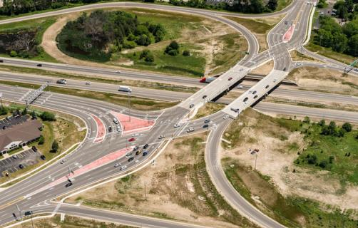 I-96 Diverging Diamond Interchange at Cascade Road